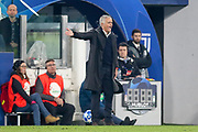 Manchester United Manager Jose Mourinho gestures and is angry during the Champions League Group H match between Juventus FC and Manchester United at the Allianz Stadium, Turin, Italy on 7 November 2018.