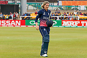 England womens cricket player Sarah Taylor (wk)  is out  during the ICC Women's World Cup match between England and Pakistan at the Fischer County Ground, Grace Road, Leicester, United Kingdom on 27 June 2017. Photo by Simon Davies.