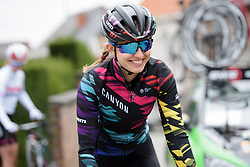 Alexis Ryan at Pajot Hills Classic 2017. A 121 km road race on March 29th 2017 in Gooik, Belgium. (Photo by Sean Robinson/Velofocus)