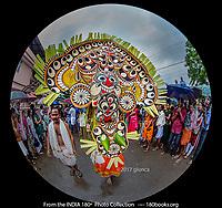 A Kolam Thullal Dancer