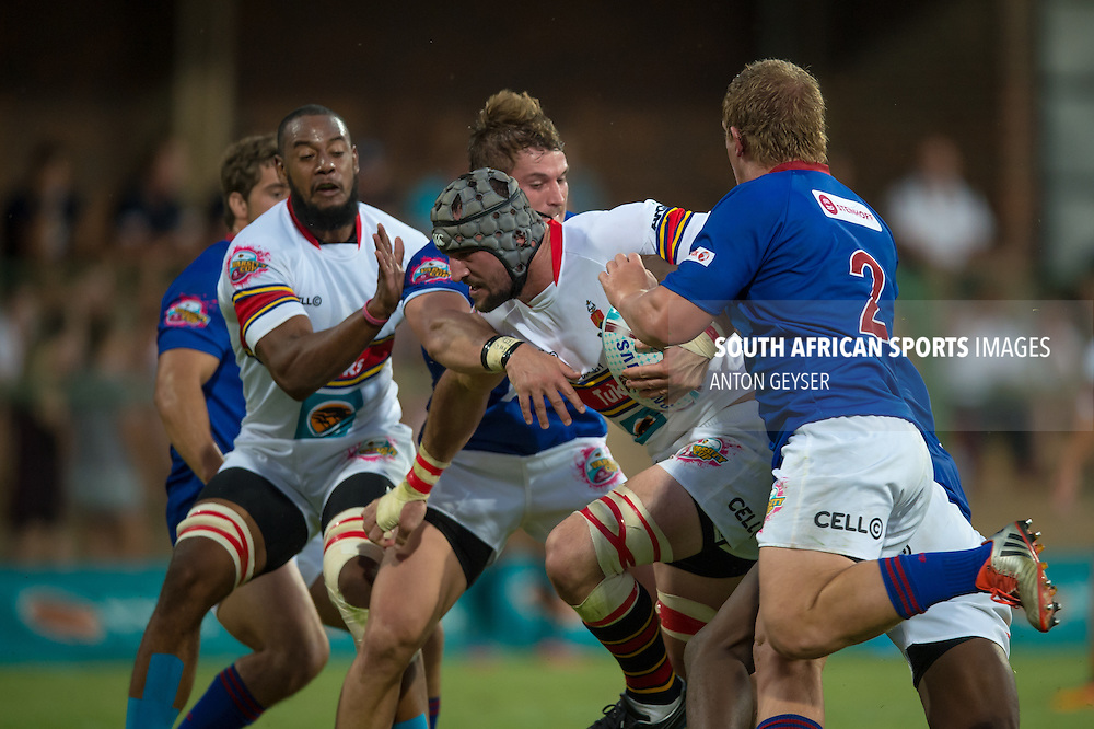 Frederik EKSTEEN from TUKS in action during 2016 FNB Varsity Cup Rugby presented by Steinhoff International, Monday 05 February 2016.<br /> FNB UP TUKS vs FNB SHIMLAS, Tuks Rugby Ground, Pretoria, Gauteng<br /> <br /> Photo by: Anton Geyser/Rugby 15