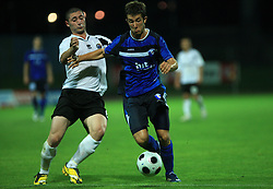 Terence Scerri of Hibernians vs Dario Smitran of Gorica during 2nd match of 1st round Intertoto Cup soccer match between ND Gorica and Hibernians FC at Sports park, on June 28,2008, in Nova Gorica, Slovenia. (Photo by Vid Ponikvar / Sportal Images)
