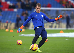 December 26, 2018 - London, England, United Kingdom - London, England - 26 December, 2018.Cardiff City's Alex Smithies during the pre-match warm-up .during English Premier League between Crystal Palace and Cardiff City at Selhurst Park stadium , London, England on 26 Dec 2018. (Credit Image: © Action Foto Sport/NurPhoto via ZUMA Press)