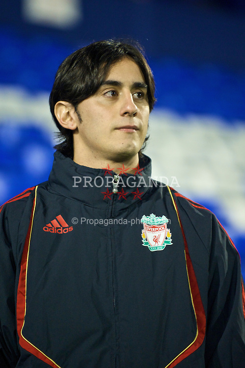 BIRKENHEAD, ENGLAND - Wednesday, October 21, 2009: Liverpool's Alberto Aquilani before during the FA Premiership Reserves League (Northern Division) match against Sunderland at Prenton Park. (Photo by: David Rawcliffe/Propaganda)
