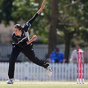 Nicola Brown bowling during the South Africa  V New Zealand group A match at Bradman Oval in the ICC Women's World Cup Cricket Tournament, in Bowral, Australia on March 12, 2009. New Zealand won the match by 199 runs. Photo Tim Clayton