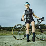 Cyclist Bridgette Travis. Half Moon Bay, CA | Palo Alto Bicycles