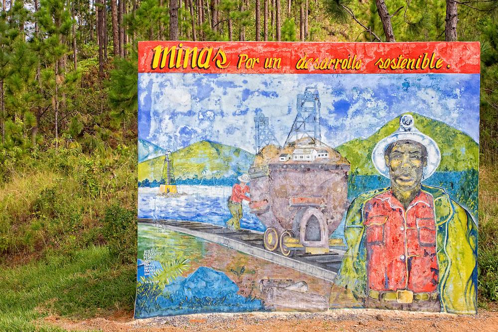 Faded sign in Minas de Matahambre, Pinar del Rio, Cuba.
