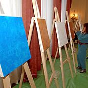 NLD/Amsterdam/20060209 - Bekende Nederlanders schilderen voor de Stichting Lezen en Schrijven