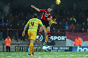 Morecambe Midfielder Alex Kenyon during the Sky Bet League 2 match between Morecambe and Yeovil Town at the Globe Arena, Morecambe, England on 16 January 2016. Photo by Pete Burns.