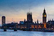 UK Parliament Sunset 160216