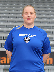 14.07.2015, Scholz Arena, Aalen, GER, 2. FBL, VfR Aalen, Fototermin, im Bild Physiotherapeut Kathrin Heisig ( VfR Aalen ) // during the official Team and Portrait Photoshoot of German 2nd Bundesliga Club VfR Aalen at the Scholz Arena in Aalen, Germany on 2015/07/14. EXPA Pictures © 2015, PhotoCredit: EXPA/ Eibner-Pressefoto/ Langer<br /> <br /> *****ATTENTION - OUT of GER*****