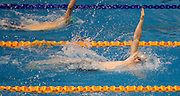 Kurt Crosland of the Makos team competes in the 16+ Men's 200m Backstroke race during the Senior Zonal Championship at the Wellington Regional Aquatic Centre in Kilbirnie in Wellington on Friday the 4th of October 2013. Photo by Marty Melville/www.photosport.co.nz