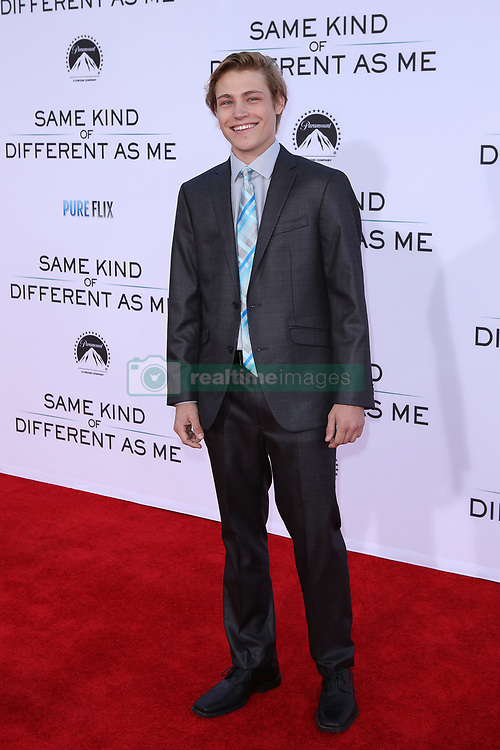 """Austin Filson at the Paramount Pictures And Pure Flix Entertainment's """"Same Kind Of Different As Me"""" Premiere held at the Westwood Village Theatre on October 12, 2017 in Westwood, California, USA (Photo by Art Garcia/Sipa USA)"""