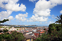aerial view of the beautiful city of salvador in bahia state brazil