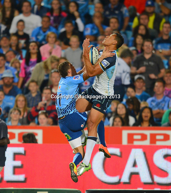 Bjorn Basson of the Bulls during the Super Rugby match between the Bulls and the Waratahs played at Loftus Versfeld in Pretoria on April 27, 2013©Barry Aldworth/BackpagePix