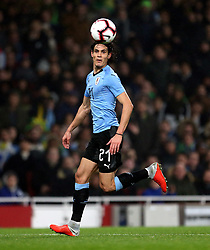 Uruguay's Edinson Cavani during the International Friendly match at the Emirates Stadium, London