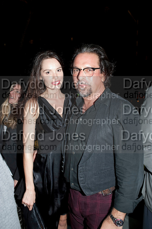 INES RIBEIRO; SANTO D'ORAZIO  , Jay Jopling hosts a party at Soho House. Miami Beach. Miami art Basel. 30 November 2010. -DO NOT ARCHIVE-© Copyright Photograph by Dafydd Jones. 248 Clapham Rd. London SW9 0PZ. Tel 0207 820 0771. www.dafjones.com.