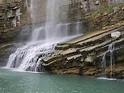 Turkey, Birecik Dam, Euphrates river, waterfall