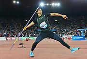 Neeraj Chopra (IND) places fourth in the javelin at 281-3 (85.73m) during the Weltklasse Zurich in an IAAF Diamond League meeting at Letzigrund Stadium in Zurich, Switzerland on Thursday, August 30, 2018.(Jiro Mochizuki/Image of Sport)