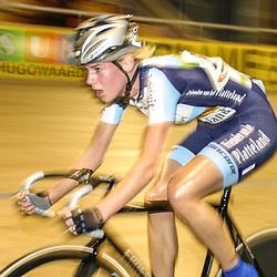 ALKMAAR (NED) wielrennen<br /> NK Baanwielrennen ; vrouwen; ; scratch; Iris Slappendel