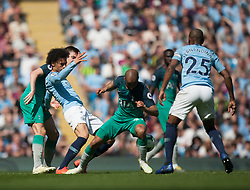 Leroy Sane of Manchester City (2nd L) in action - Mandatory by-line: Jack Phillips/JMP - 20/04/2019 - FOOTBALL - Etihad Stadium - Manchester, England - Manchester City v Tottenham Hotspur - English Premier League