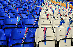 Clappers are placed on Birmingham City seats prior to kick off - Mandatory by-line: Paul Roberts/JMP - 29/10/2017 - FOOTBALL - St Andrew's Stadium - Birmingham, England - Birmingham City v Aston Villa - Skybet Championship