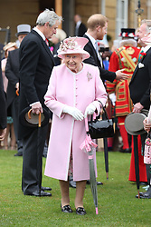 May 29, 2019 - London, London, United Kingdom - Image licensed to i-Images Picture Agency. 29/05/2019. London, United Kingdom. Queen Elizabeth II and Prince Harry, The Duke of Sussex at a Royal Garden Party at Buckingham Palace in London. (Credit Image: © Pool/i-Images via ZUMA Press)
