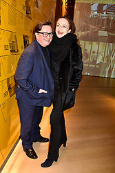 Sebastian Conran and Gertrude Thome at the Range Rover Velar Global Reveal at The Design Museum, London England. 1 March 2017.