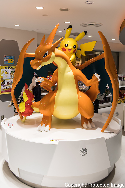 The Pokemon center in Ikebukuro. The Japanese version of the game app Pokemon Go was released on July 22, 2016. Japan McDonalds' 3,000 restaurants in Japan will be turned into Pokemon gyms in collaboration with the fast-food chain. 22/07/2016-Tokyo, JAPAN