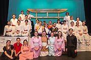 Southampton University Light Opera Society following their production of The Mikado on Thursday 10 August 2017 14:30 in the Savoy Theatre. 24th International Gilbert &amp; Sullivan Festival, Harrogate, North Yorkshire 04-20 August 2017 Photo by Jane Stokes<br /> <br /> Directors Billy Boulton &amp; George Smith<br /> Choreographer Renata Stella<br /> Musical Directors David Child &amp; Liam Chan<br /> Conductor David Child
