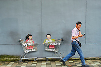Singapour, quartier de Kampong Glam, peinture murale // Singapore, Kampong Glma district, wall painting