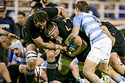 Buenos Aires (Bs. As. Province, ARGENTINA), September 29, 2018: Sam Cane from All Blacks runs with the ball during the International rugby match during the Rugby Championship between Argentina v New Zealand at José Amalfitani Stadium, on Saturday, September 29, 2018 in Buenos Aires, Argentina. <br /> Copyright photo: Pablo A. Gasparini / www.photosport.nz