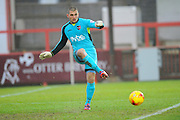 Exeter City's Robert Olejnik during the Sky Bet League 2 match between Exeter City and Accrington Stanley at St James' Park, Exeter, England on 23 January 2016. Photo by Graham Hunt.