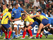 Marseille, FRANCE - 12th September 2007, Bogdan Balan of Romania  during the Rugby World Cup, pool C, match between Italy and Romania held at the Stade Velodrome in Marseille, France...Photo: Ron Gaunt/ Sportzpics