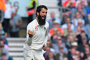 Wicket - Moeen Ali of England celebrates taking the wicket of Hanuma Vihari of India during day 3 of the 5th test match of the International Test Match 2018 match between England and India at the Oval, London, United Kingdom on 9 September 2018.