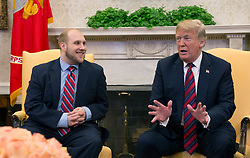 Joshua Holt participate in a meeting with United States President Donald J. Trump at the U.S. at The White House in Washington, DC, May 26, 2018. Holt, was released from prison in Venezuela following diplomat efforts by the Obama and Trump administrations. Credit: Chris Kleponis / CNP. 26 May 2018 Pictured: United States President Donald J. Trump celebrates the return of Joshua Holt to the U.S. at The White House in Washington, DC, May 26, 2018. Holt, was released from prison in Venezuela following diplomat efforts by the Obama and Trump administrations. Credit: Chris Kleponis / CNP. Photo credit: Chris Kleponis - CNP / MEGA TheMegaAgency.com +1 888 505 6342