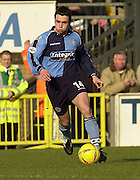 Photo Peter Spurrier.22/02/2003.Sport - Nationwide Football League Div 2.Wycombe Wanders v Wigan Athletic.Stuart Robinson cutting in from the wing