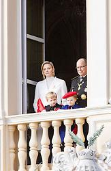 November 19, 2019, Monaco, Monaco: 19-11-2019 Monte Carlo Prince Jacques and Princess Gabriella and Prince Albert II of Monaco and Princess Charlene during the Monaco national day celebrations in Monaco. (Credit Image: © face to face via ZUMA Press)