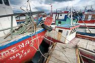 Old fishing boats, Puerto Natales, Patagonia, Chile