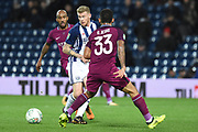 West Bromwich Albion midfielder James McClean (14) plays a pass 1-2 during the EFL Cup match between West Bromwich Albion and Manchester City at The Hawthorns, West Bromwich, England on 20 September 2017. Photo by Alan Franklin.