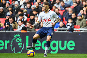 Tottenham Hotspur Defender Kieran Trippier (2) in action during the Premier League match between Tottenham Hotspur and Newcastle United at Wembley Stadium, London, England on 2 February 2019.