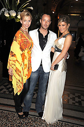 Left to right, ANNEKA SVENSKA,  SCOTT HENSHALL and HOFIT GOLAN at British Style Observed - part of National Magazine's 30 Days of Fashion & Beauty festival featuring photographs by Mary McCartney with proceeds from the evening going to Macmillan Cancer Care held at the Natural History Museum, Cromwell Road, London on 16th September 2008.