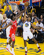 Golden State Warriors guard Nick Young (6) snags a rebound against the Houston Rockets during Game 3 of the Western Conference Finals at Oracle Arena in Oakland, Calif., on May 20, 2018. (Stan Olszewski/Special to S.F. Examiner)