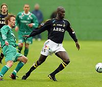Fotball<br /> La Manga<br /> 16.03.2004<br /> Hamarkameratene v AIK<br /> Foto: Morten Olsen, Digitalsport<br /> <br /> Marius Gullerud - HamKam<br /> Pa Modou Kah - AIK
