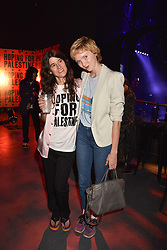 "Bella Freud and Lily Cole at ""Hoping For Palestine"" Benefit Concert For Palestinian Refugee Children held at The Roundhouse, Chalk Farm Road, England. 04 June 2018."