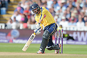 James Vince during the NatWest T20 Blast Semi Final match between Hampshire County Cricket Club and Lancashire County Cricket Club at Edgbaston, Birmingham, United Kingdom on 29 August 2015. Photo by David Vokes.