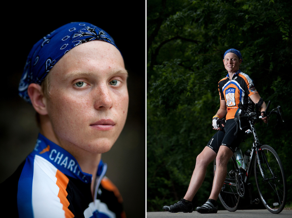 """Ride for 8/15"" is the message plastered to Jared Muston's bike.  On that date in 2007, he received a devastating diagnosis.  What he thought was mono turned out to be Hodgkin's lymphoma - blood cancer.  Just a few days from beginning his college career at the University of Texas, Muston instead had to endure 12 weeks of chemotherapy and radiation.  He was in remission by January of 2008 and began cycling soon after.  This summer, Muston and 50 other UT students and cancer survivors will journey 4,687 miles from Austin to Anchorage, Alaska in the 7th Texas 4000 to raise money for awareness and research."