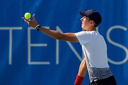 Enej Berghaus (SLO) play against Igor Zelenay (SVK) at ATP Challenger Zavarovalnica Sava Slovenia Open 2017, on August 4, 2017 in Sports centre, Portoroz/Portorose, Slovenia. Photo by Urban Urbanc / Sportida