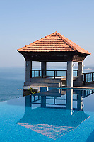 splendid swimming pool in a hotel resort in Kerala state india