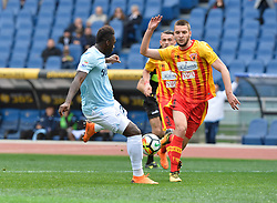 March 31, 2018 - Rome, Lazio, Italy - Felipe Caicedo kicks goal 2-2 during the Italian Serie A football match between S.S. Lazio and Benevento at the Olympic Stadium in Rome, on march 31, 2018. (Credit Image: © Silvia Lore/NurPhoto via ZUMA Press)